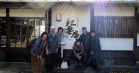 東京や埼玉から還暦のグループがそば打ちに来てくれました