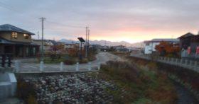 寒河江も11月末になり冬景色に近くなりました