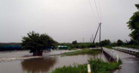 7月28日の豪雨で当社のそば畑が浸水しました、ご心配ありがとございました。
