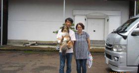 長野からワンちゃんと一緒にお越し下さいました。
