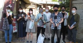 9月の連休初日、東京から若者グループが酒造資料館に来てくれました