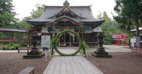 寒河江八幡宮では茅の輪が完成していました