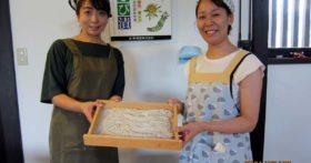 仙台より介護士さんが紅葉庵にそば打ちに来てくれました