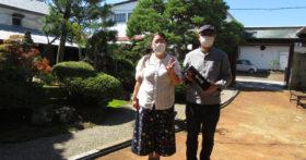 明るい奥様、温厚な御主人様が古澤酒造資料館にお越し下さいました。
